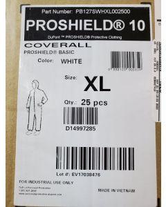 DUPONT PROT CLOTH;WHT;XL
