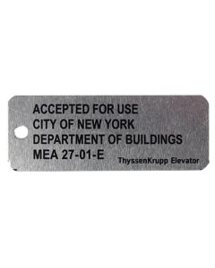 TAG MEA FOR NYC (METAL)